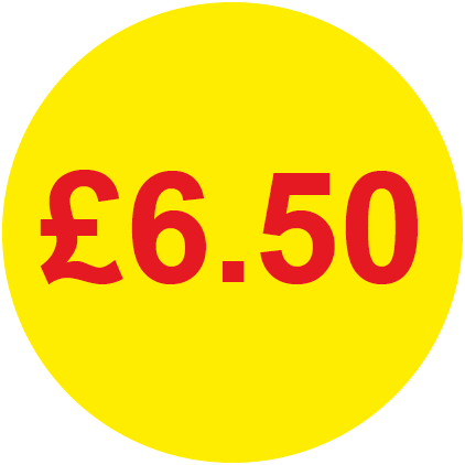 £6.50 Round Price Labels