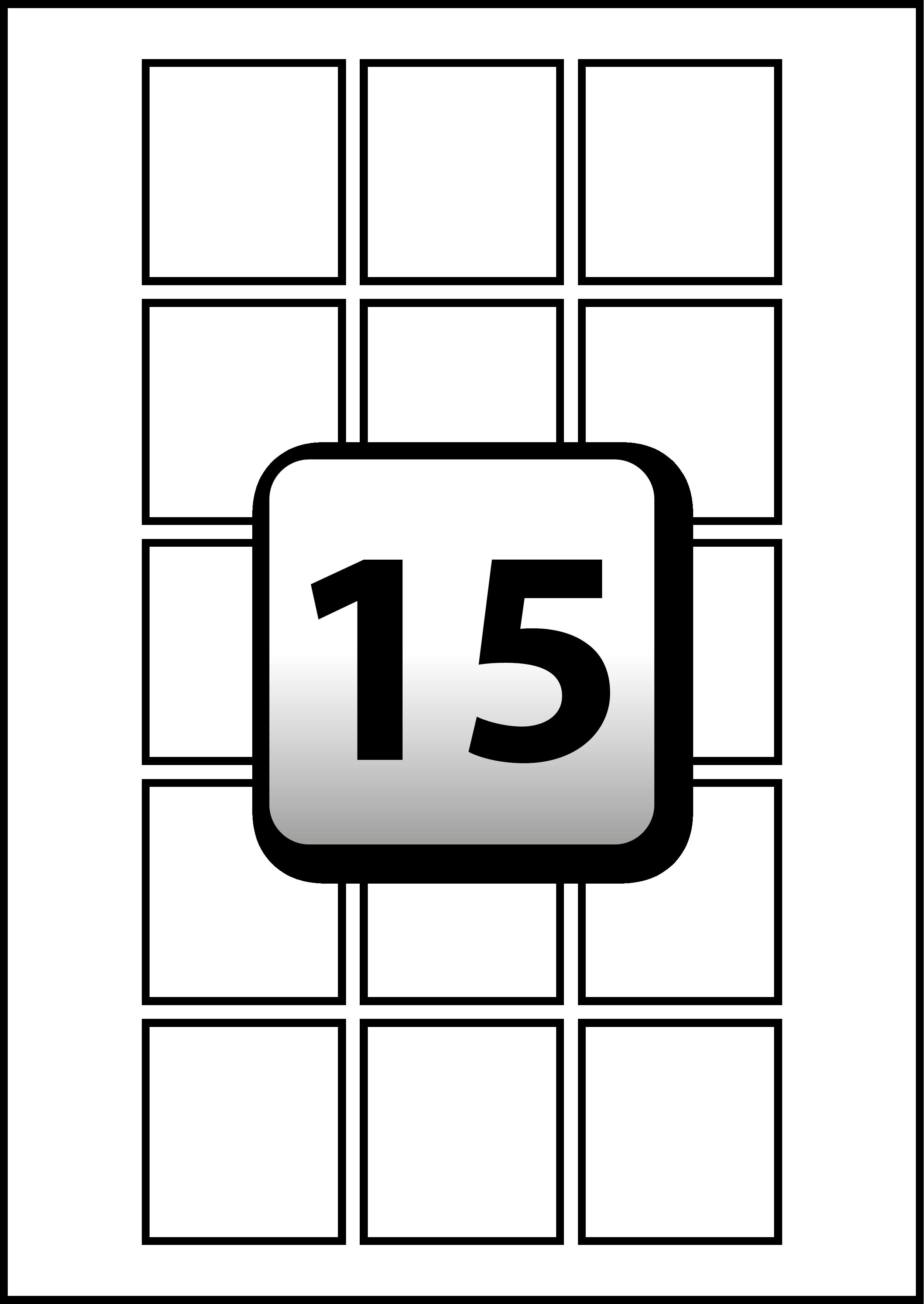 15 address labels per a4 sheet 45 mm x 50 mm