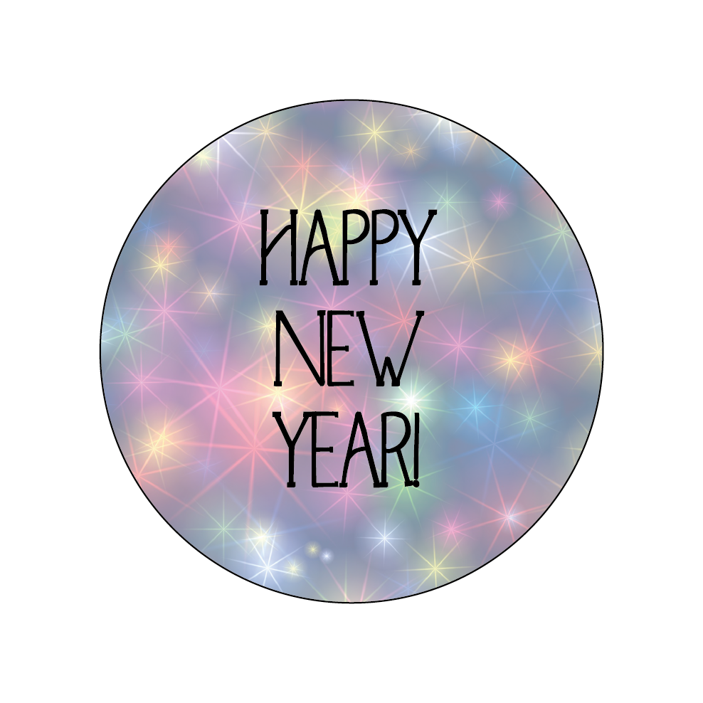 Bright Stars New Year Themed Stickers