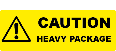 Caution Heavy Package Rectangle Shipping Labels