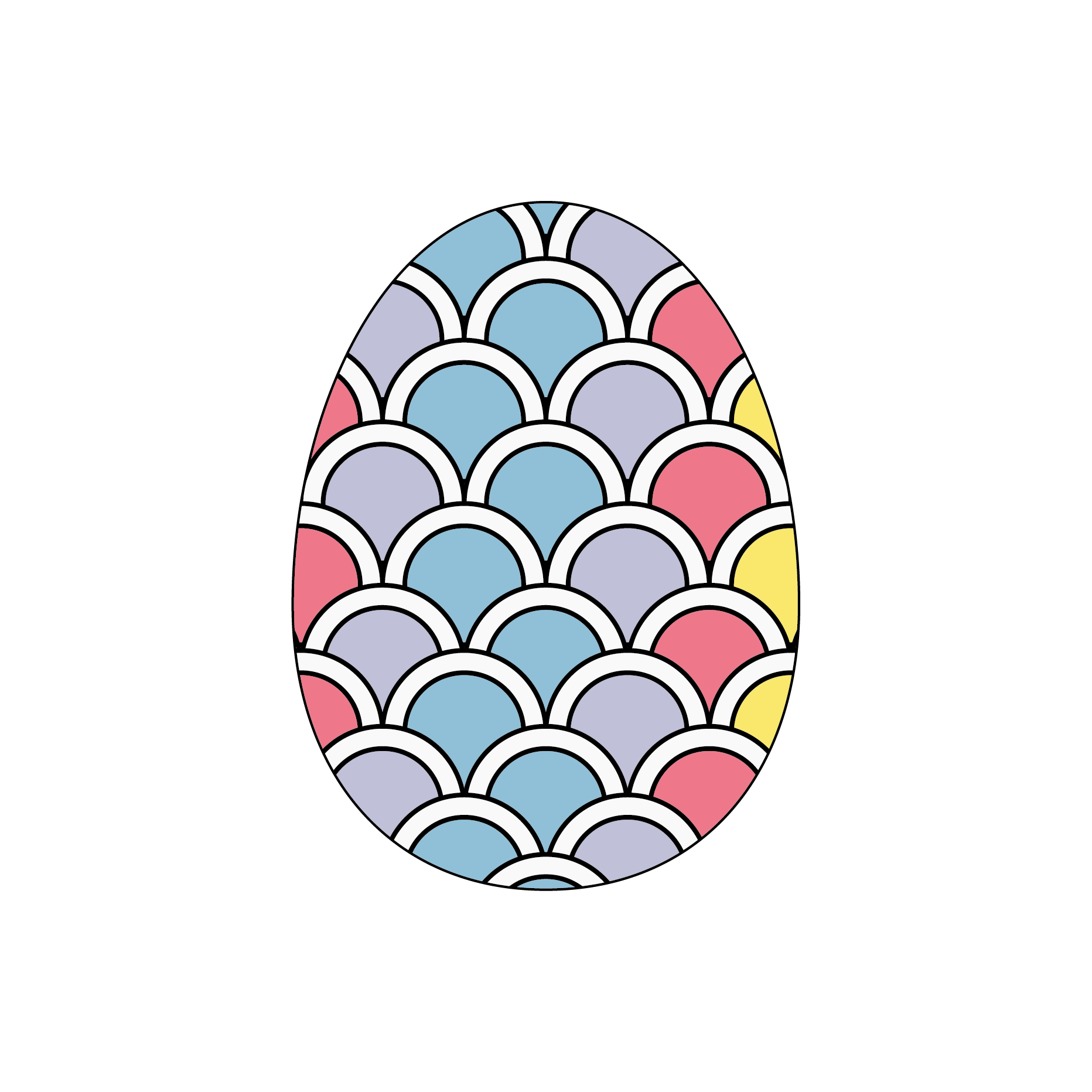 Egg Easter Themed Stickers