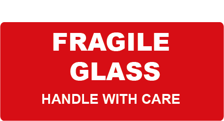 Fragile Glass Handle With Care Rectangle Shipping Labels