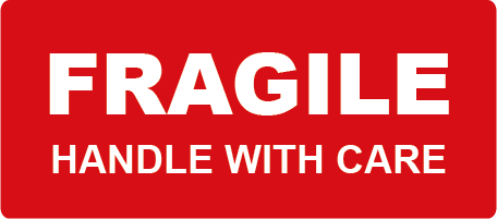 Fragile Handle with Care Rectangle Shipping Labels
