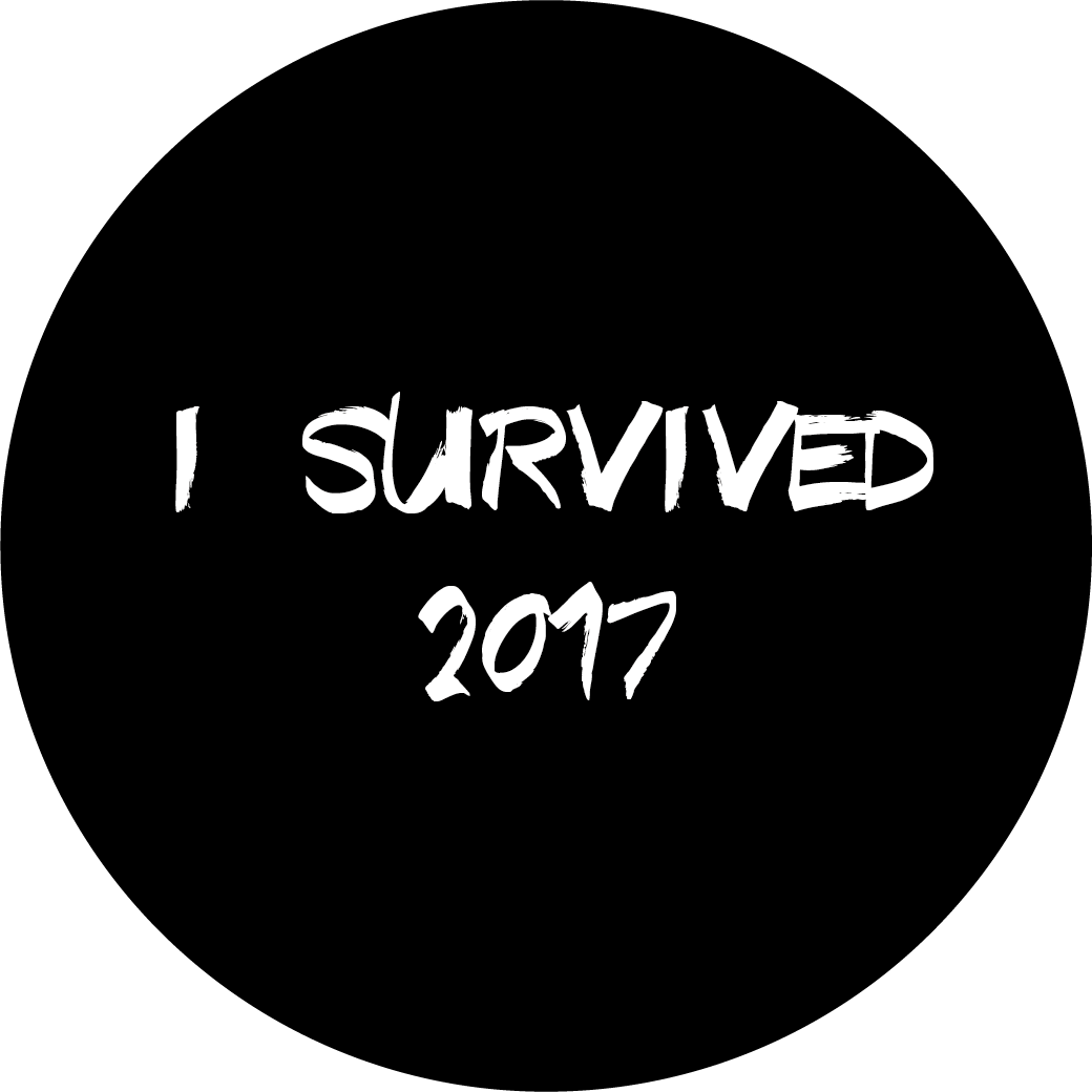 I Survived 2017 New Year Themed Stickers