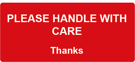 Please Handle with Care Rectangle Shipping Labels
