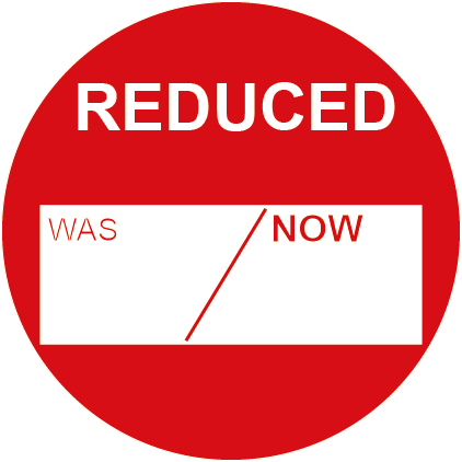 Reduced Was & Now Round Labels
