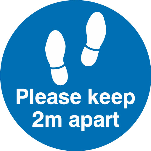 Keep 2m apart - Feet (Blue)