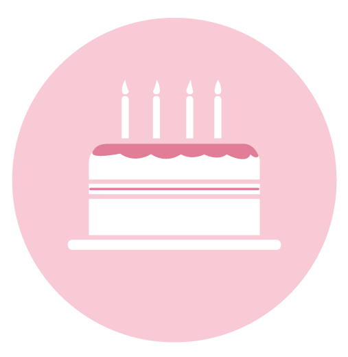 Cake pink Birthday Themed Stickers