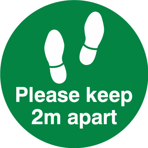 Keep 2m apart - Feet (Green)