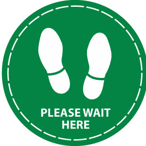 Please wait here (Green)