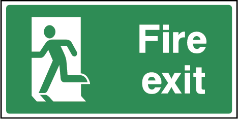 Fire Exit Rectangle Labels