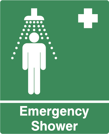 Emergency Shower Rectangle Labels