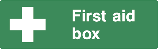 First Aid Box Rectangle Labels