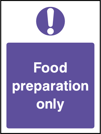 Food Preparation Hygiene Rectangle Labels