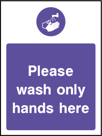 Please Wash Hands Food Hygiene Rectangle Labels