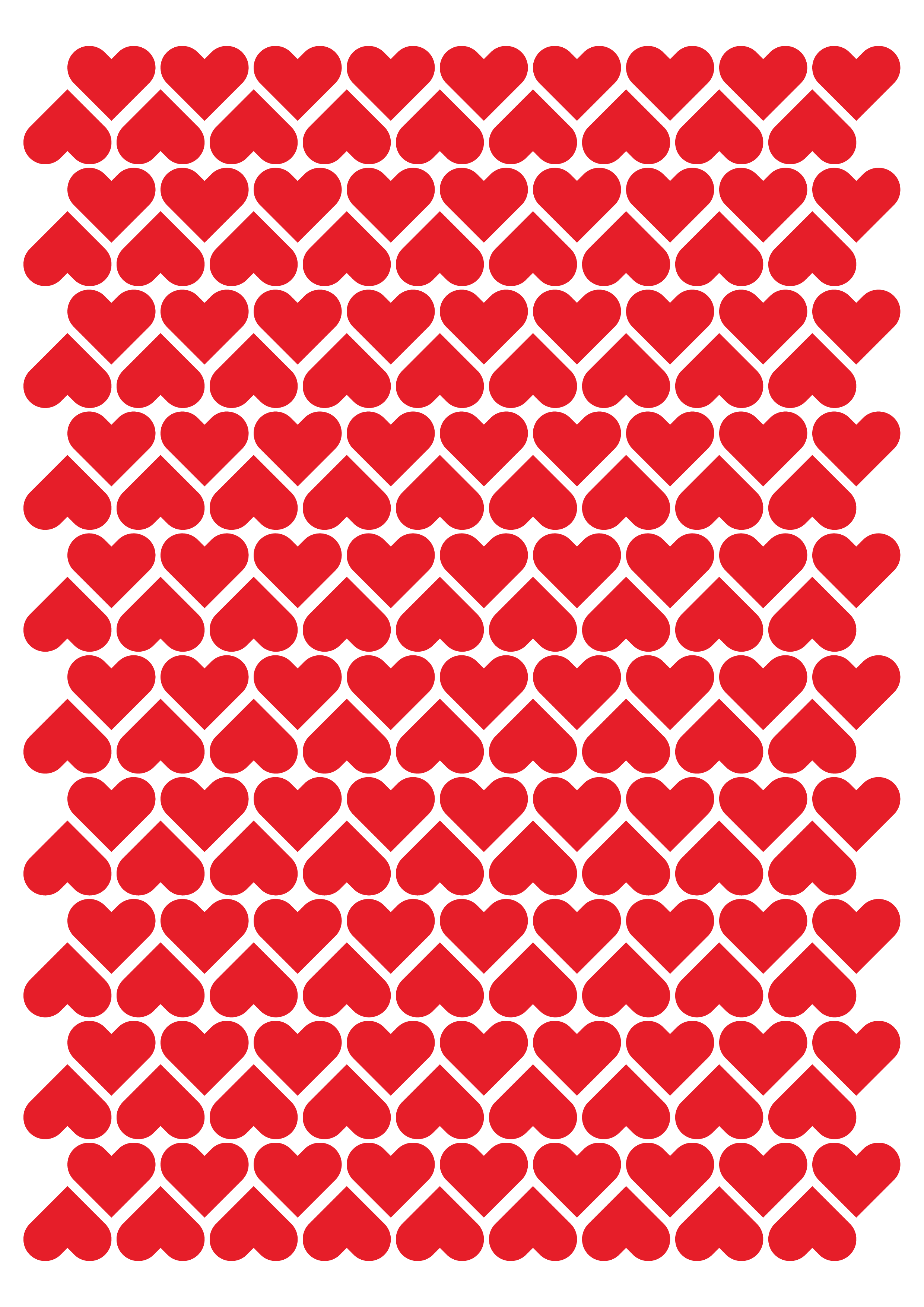 Hearts Valentines Day Themed Stickers