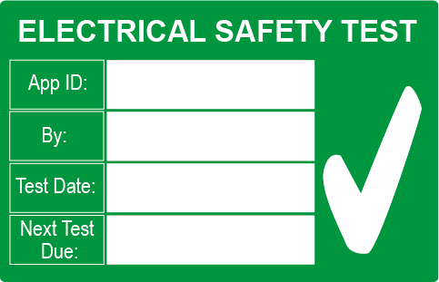 PAT Test Safety Large Rectangle Labels