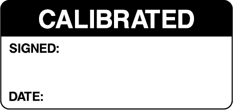 Calibrated Black Calibration Rectangle Labels