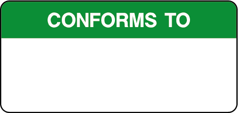 Conforms To Quality Control Inspection Labels