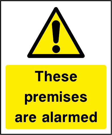 These Premises Are Alarmed CCTV Rectangle Labels