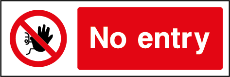 No Entry Prohibition Rectangle Labels
