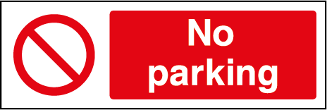No Parking Prohibition Rectangle Labels