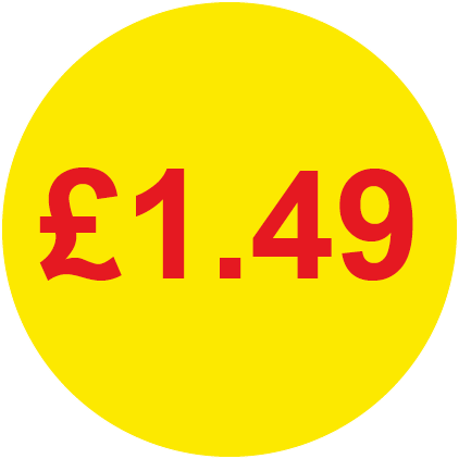 £1.49 Round Price Labels