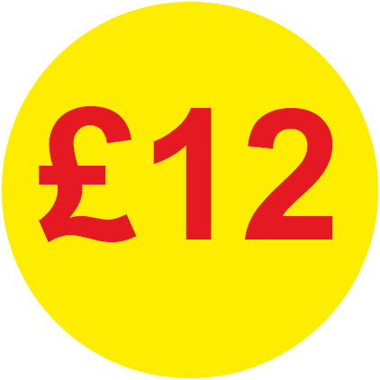 £12 Round Price Labels