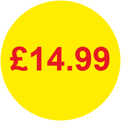 £14.99 Round Price Labels