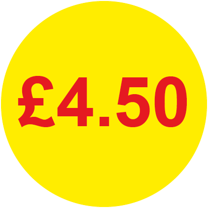 £4.50 Round Price Labels