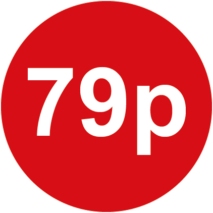 79p Round Price Labels Red