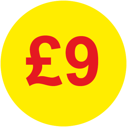 £9 Round Price Label