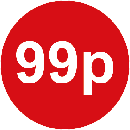 99p Round Price Labels Red