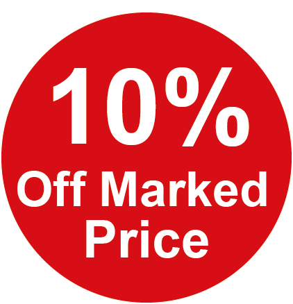 10% Off Marked Price Round Sales Labels