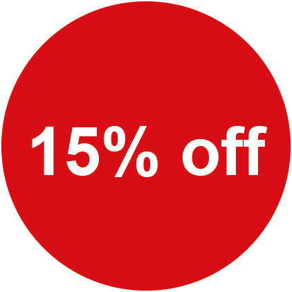 15% Off Round Sales Labels