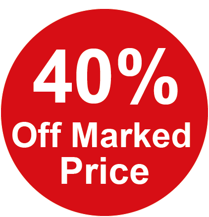 40% Off Marked Price Round Sales Labels