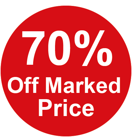 70% Off Marked Price Round Sales Labels