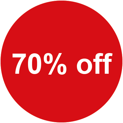 70% Off round Sales Labels