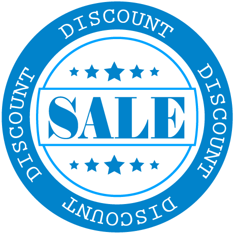 SALE Discount Round Labels