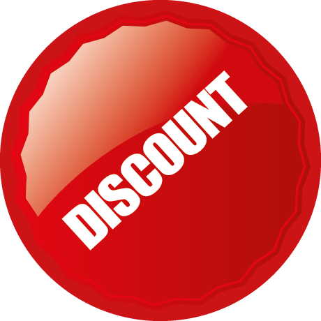 Discount Round Labels With Shine Detail