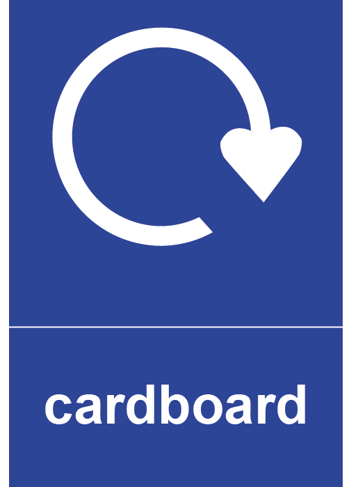 Cardboard Rectangle Recycling Labels