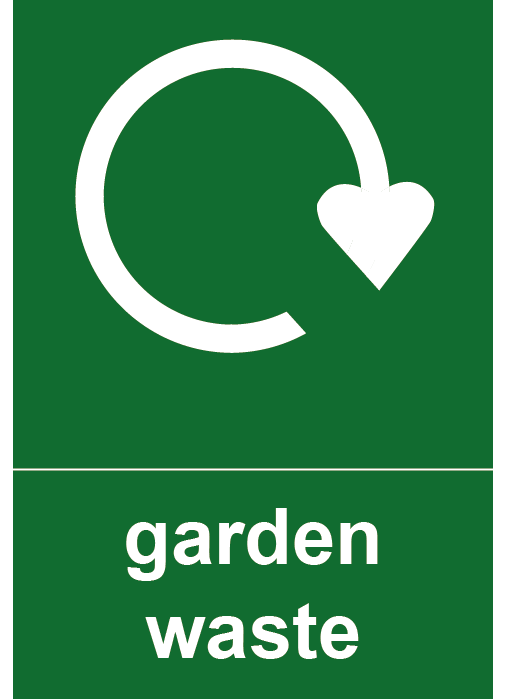 Garden Waste Rectangle Recycling Labels