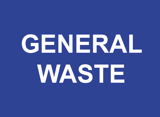 General Waste Rectangle Recycling Labels