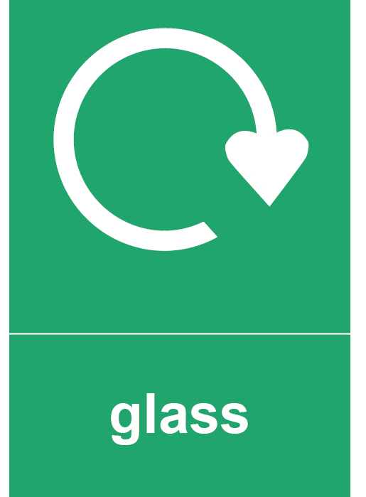 Glass Rectangle Recycling Labels