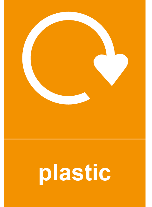 Plastic Rectangle Recycling Labels