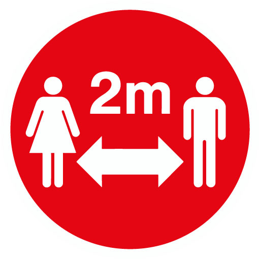 2m Distance (Red)