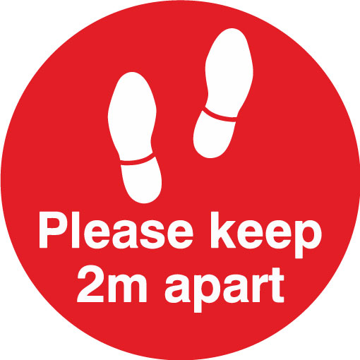 Keep 2m apart - Feet (Red)