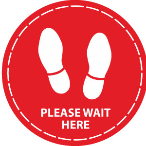 Please wait here (Red)