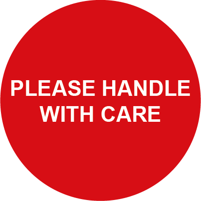 Please Handle with Care Round Shipping Labels