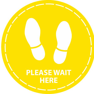 Please wait here (Yellow)